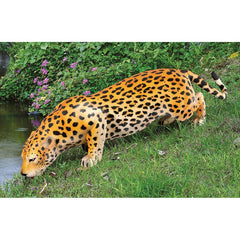 "16""H Decorative Spotted Jaguar Figurine"