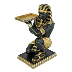 PHARAOHS KNEELING NUBIAN SERVANT TABLE      OS3-