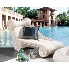 Roman Royalty Architectural Spa Furniture Chaise Poolside Longue
