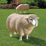 "26"" Classic Victorian Ewe Life-size Sheep Statue Sculpture Figurine - Set of 2"