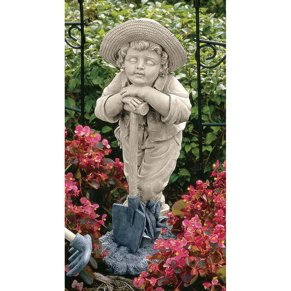 "21.5"" Classic Childhood Gardener Home Garden Statue Sculpture Figurine"