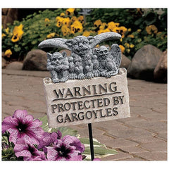 "43"" Gargoyles Garden Plaque with Stake"