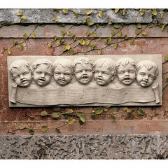 "19"" Amazing Grace Musical Children Angel Cherubs Wall Sculpture Architectural Pediment (Xoticbrands)"