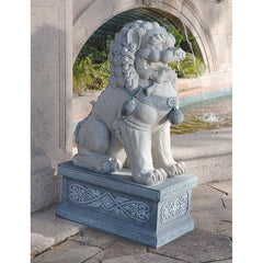 "30"" Giant Foo Dog of the Forbidden City Chinese Sculpture"