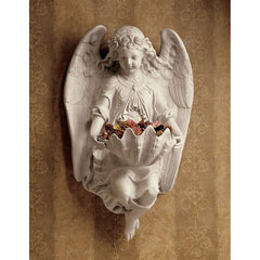 Child Angel Flower Home Garden Cherub Statue Figurines (Xoticbrands)
