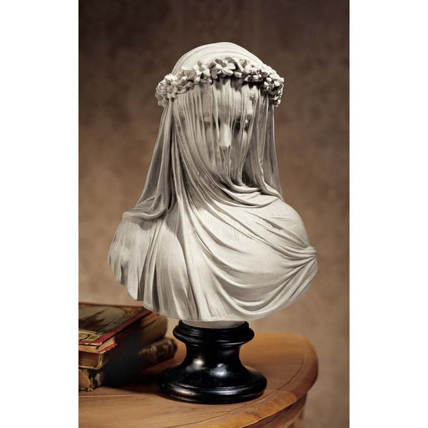 "14"" Museum Replica Italian Bride Maiden Statue Sculpture Bust Inspired By Art..."