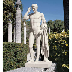 "37"" Grand Kleomenes Male Nude Roman Greek Statue Home Garden Sculpture Statue"