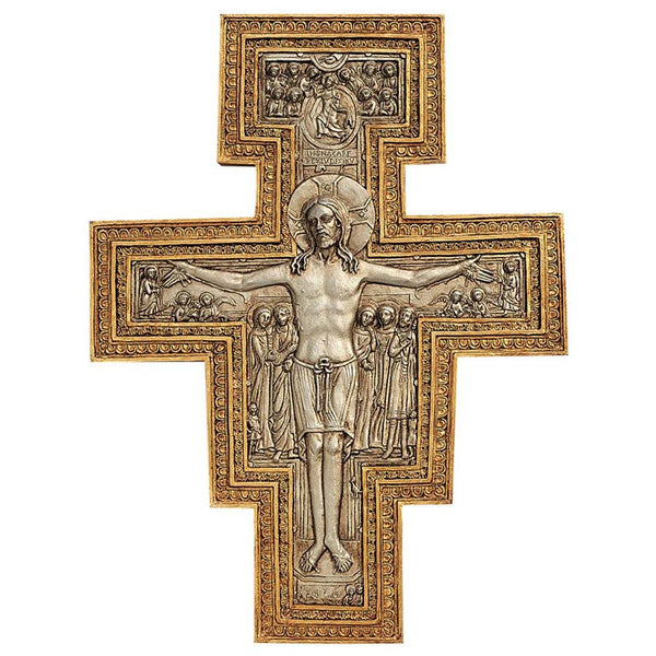 "10"" Classic Jesus Religious Christian Catholic Sculptural Wall Cross Decor"