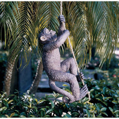 "20"" Exotic Tropical Forest Monkey Home Garden Statue Sculpture Figurine"