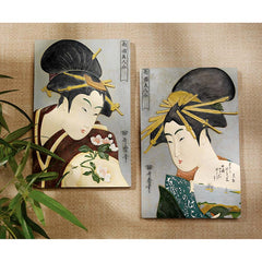 "12.5"" Museum Replica Japanese Beauties Wall Sculptures Inspired By artist Kit..."