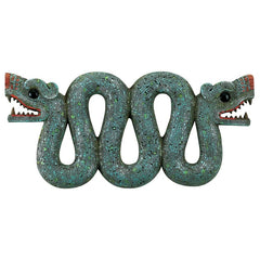 "7.5"" Aztec Double-headed Serpent Animal Snake Wall Sculpture/Museum Replica"