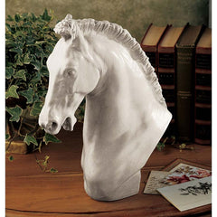 "12"" Classic Museum Replica Italian Horse Sculpture Statue Bust Inspired By ar..."