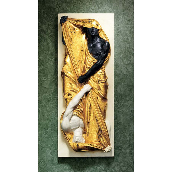 "18"" Classic Italian Art Deco Sculpture Statue Black /White Wall Sculpture"