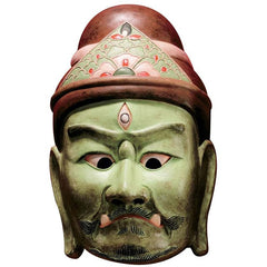 "12"" Kyoto National Museum Guardians of Buddhism Processional Asian Masks/Japa..."
