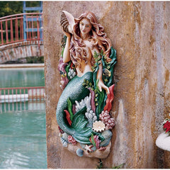 "29"" Mermaid Siren Wall Pool Side Sculpture Statue Figurine [Kitchen]"