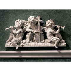 Angelic Cherub Sculptural Architecture Wall Pediment - baroque palace wall pediment (Xoticbrands)