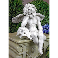 "13"" Home and Garden Sitting Cherub Sculptural Statue (Xoticbrands)"
