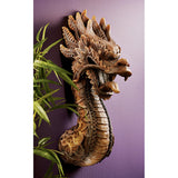 "18.5"" Chinese Dragon Wall Sculpture Statue Figurine"