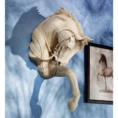 Thoroughbred Stallion Horse Wall Sculpture Home Gallery Statue (Xoticbrands)
