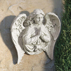 "17"" Classic Praying Angel Wall Sculpture Sculpture Figurine"