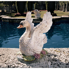 "23"" Beauty Grace Swan Sculpture Statue Figurine - Set of 2"