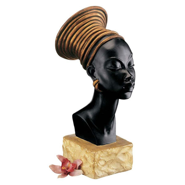 "13"" Museum Replica African Ethiopian Queen Candace Sculpture Statue Bust"