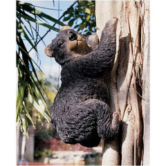 "13"" Climbing Tree Bear Wildlife Home Garden Statue Figurine Sculpture - Set of 2"