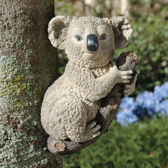"13"" Climbing Bear Koala Tree Statue Sculpture Figurine - Set of 2"