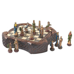 Legendary Celtic Warriors Chess Set and Board