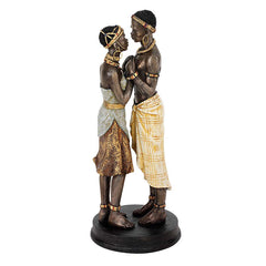 "10.5"" African Art Passionate Lovers Statue Sculpture Figurine/Wedding Anniver..."