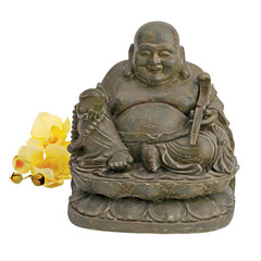 Asian Laughing Buddha Meditation Sanctuary Statue Sculpture Figurine