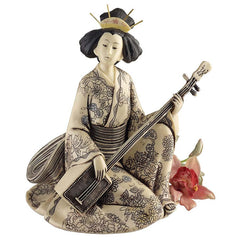"8.5"" Japanese Collectible Geisha Sculpture Statue Figurine"