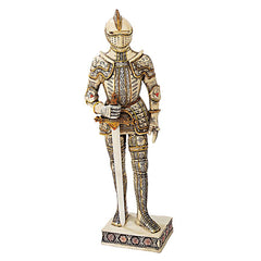 "18""H Knights of the Realm Ivory Statue: Knight with Sword"