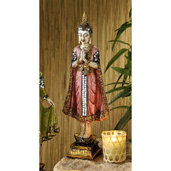 "13.5"" Classic Asian Sukhothai Temple Buddha Meditation Statue Sculpture Figurine"