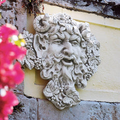 "19"" Antique Replica Woods Wine God Bacchus Home Gallery Wall Sculpture Large"