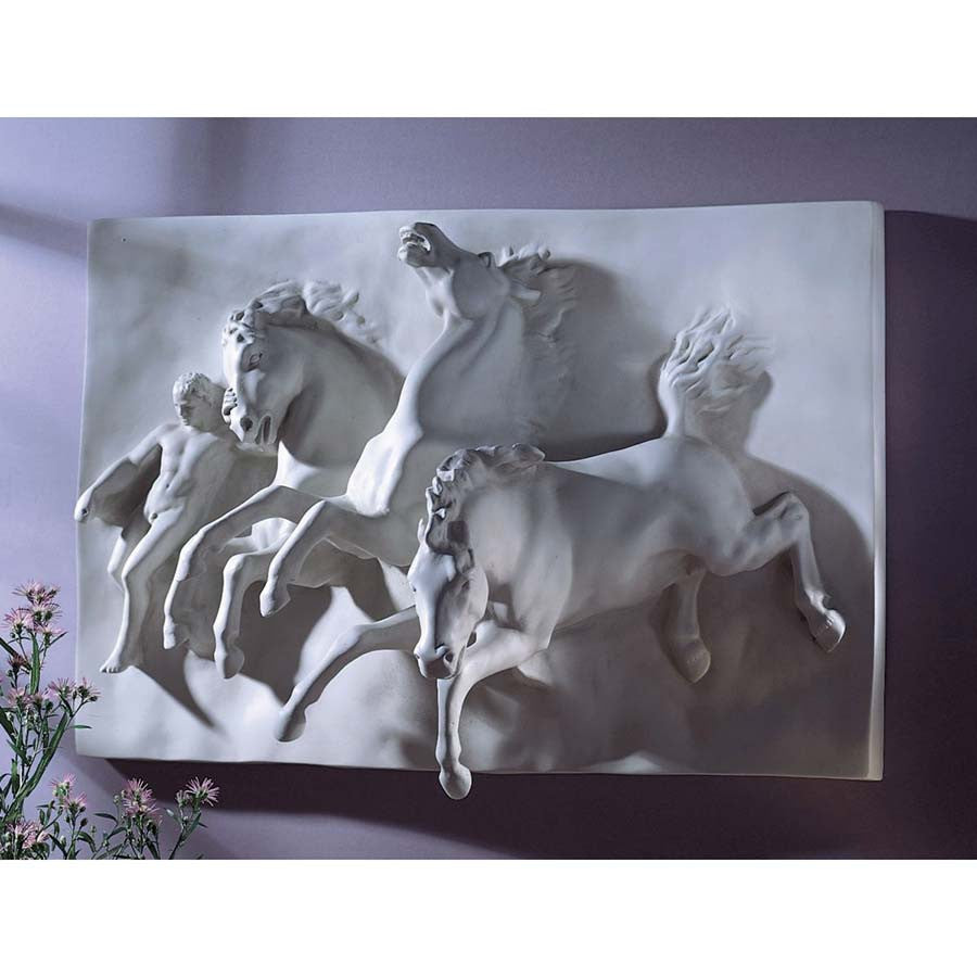 3-D The Flight Of Night Wild Horses Wall Sculpture Statue By William Morris H...