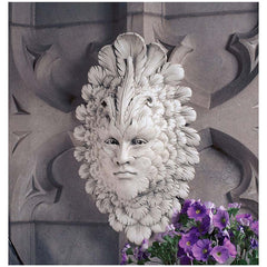 Classic Italian Carnival Venetian Greenman Wall Mask Sculpture Statue Decor