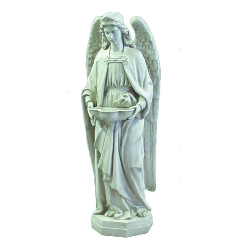 "Holy Water Font Angel 50"" H Garden Angel Statue"