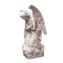 Adoration Kneeling Angel (crossed) 56 H Garden Angel Statue
