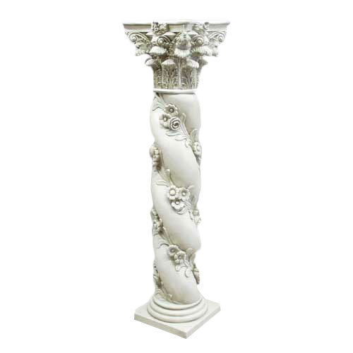 Twisted Rose Pedestal - Architectural   Columns