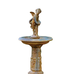 Cupid Birdbath 51 (2 Pieces) Garden Display