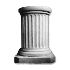 Short Fluted Pedestal 18 - Architectural   Columns