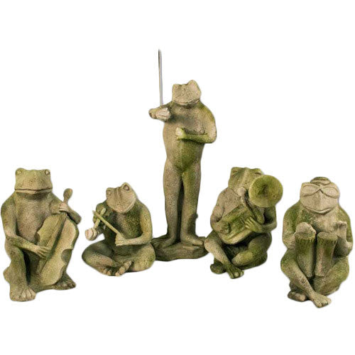 Frog Jazz Follies Set Garden Animal Statue