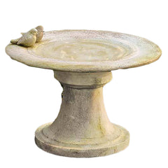 Giannola Birdbath w/Finches Garden Display