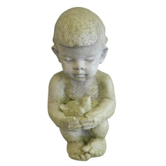 Adorable Boy Home Garden Sculpture