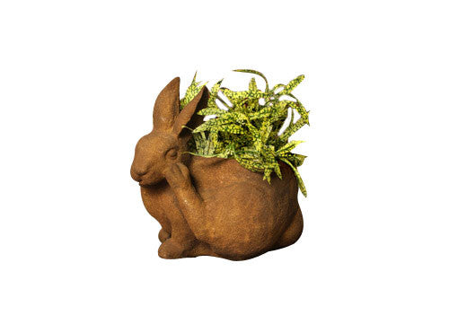 Bunny Pot Scratching Garden Animal Statue