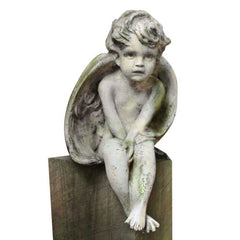 Meditation Cherub Small 12 Garden Angel Statue
