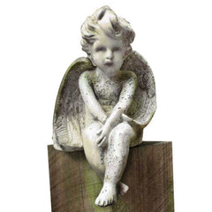 Meditation Cherub Medium 15 Garden Angel Statue