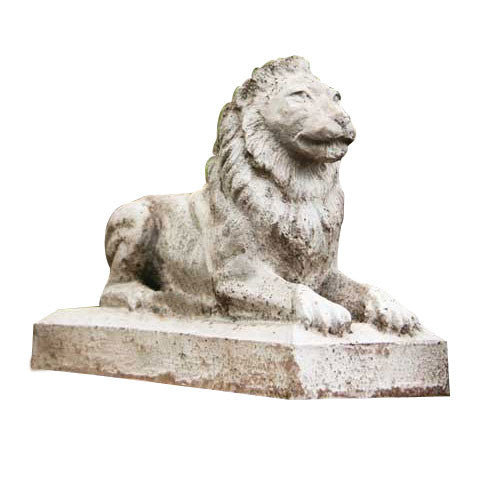 Sentinel Lion-Small Garden Animal Statue