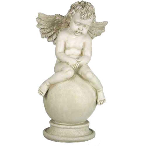 "Sleepy Angel with Wings 19""H Garden Angel Statue"